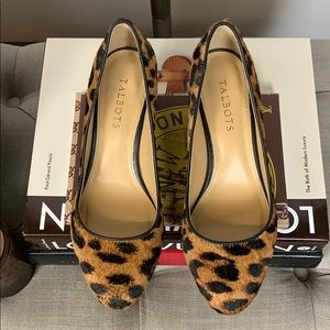cfe0bcb24 Talbots Shoes - Talbots Leopard Hair Calf Isa Block-Heel Pumps